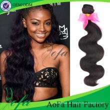 Extensão brasileira do cabelo humano da onda do cabelo do Virgin 7A natural