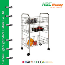 Supermarket chrome vegetable rack for store