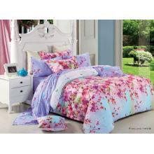 Luxus elegantes Blumenmuster bequeme Qualität 100% Baumwolle reaktive gedruckte moderne Bettwäsche-Sets