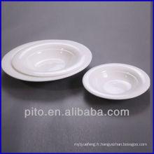P & T en porcelaine usine plaque profonde, plaque à salade, assiette