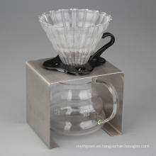 Juego de iniciación con goteador de café vierte sobre 3 piezas