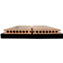 Plate-forme extérieure en plastique anti-dérapante de wpc decking en bois en plastique