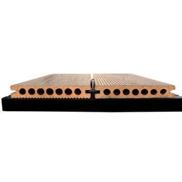 Decking composto plástico de madeira do decking exterior antiderrapante do wpc do deslizamento