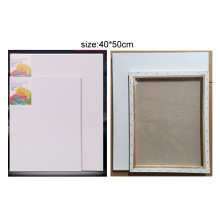White Artist Canvas with Wooden Frame