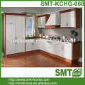 modern modular MDF MFC customized cream lacquer kitchen cabinet