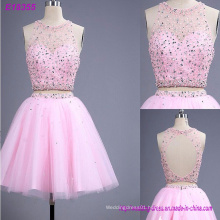 New Fashion A Line Lace Beading Sexy Evening Dress Open Back