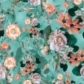 Factory Custom Digital Printed Elastic Silk Satin Fabric