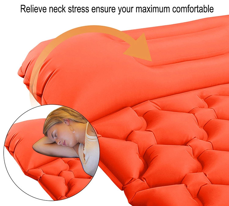 Inflatable cushion with pillow for picnic
