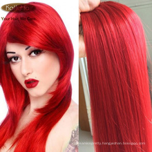 Double Drawn 100% Brazilian Virgin Human Hair Straight Red #613 Color Hair Weaving Sexy Cosplay Womwn Hair Extension