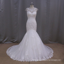 Deep V Lace Mermaid Wedding Gown