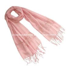 Новый стиль 100% льняной кружевной шарф