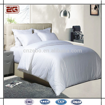 Guangzhou Factory Directly Supply Pure White 60s Luxury Cotton Hotel Beddings