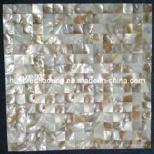 Carrelage de mosaïque de coquillages de la rivière chinoise Iridescent (HMP61)