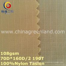 Tissu 100% de teinture de nylon de Taslon pour le vêtement de textile (GLLML253)
