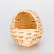 Ninho de pássaros de Rattan pequeno em forma de ovo