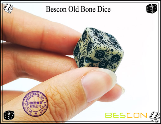 Bescon Old Bone Dice-7