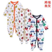 2017 aliexpress venta caliente de manga larga del bebé mamelucos lindo diseño bebé invierno mameluco mono