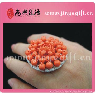 Les bijoux de mariage les bagues de fiançailles drôles de grande pierre faites main colorées