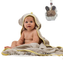 Muslin baby towel animal face Hooded baby towel 100% bamboo fluffy high quality baby bath towel