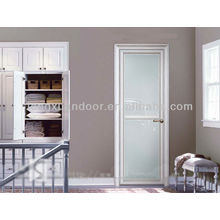 Aluminum Swing door, full glass bathroom door, glass toliet doors