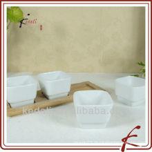 Porzellan-Tapas-Teller mit Bambus