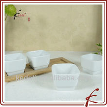 Porcelana prato de tapas com bambu