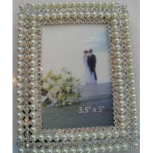 Mode-Kristallen und Perlen-Fotorahmen für Hochzeitsgeschenk