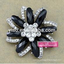 Новая модная ювелирная милая кристалл цветок брошь для маленьких девочек