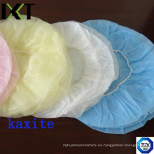 Disponible desechable Bouffant Cap Ready Made para médico enfermera e industria alimentaria Kxt-Bc09