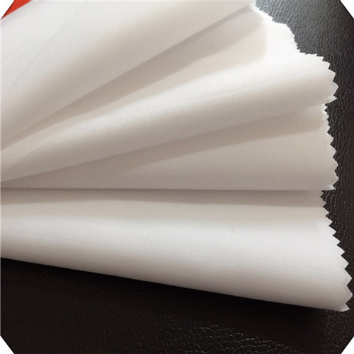 80 Polyester 20 Cotton Bleached White Dubai Dress Fabric
