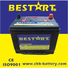 Power Batteries Lead Acid 55D26rmf 12V60ah Chinese Car Battery