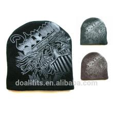 Padrão personalizado de malha beanie de alta qualidade com logotipo personalizado feito na china