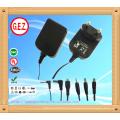 CE, UL5v 2a eu uk us au adaptador de energia de plugue intercambiável