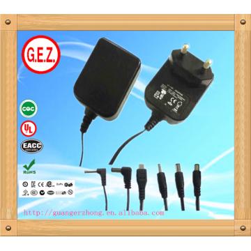 CE, UL5v 2a eu uk us au adaptador de corriente de enchufe intercambiable