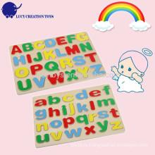 Образовательные дети DIY деревянные алфавита Puzzle игрушки