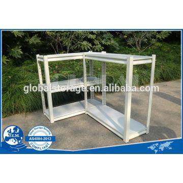 Light duty capacity of rivet shelving for office used/powder coated of white & black shelving/teardrop hole office shelving