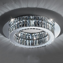 Renewable Design for Modern Crystal Ceiling Light round modern simple crystal chandelier ceiling lamp supply to United States Suppliers