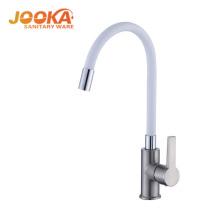 Economic new style white color flexible faucet kitchen sink mixer tap