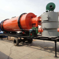 Secador rotatorio móvil de arena seca con aserrín para la venta