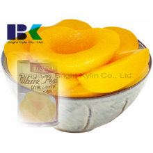 Экономичный консервированный желтый персик в сиропе