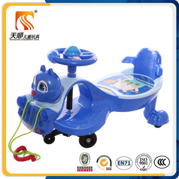 Nuevo diseño Cute Squirrel Head Baby Swing Car con tirando de la cuerda