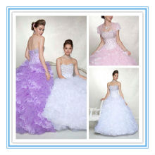 Sexy Strapless Light Purple/White Handmade Beads Quinceanera Dress Cheap(QUMO-1011)