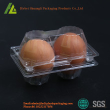 2 Holes Flip Top Plastic Eggs Package Tray