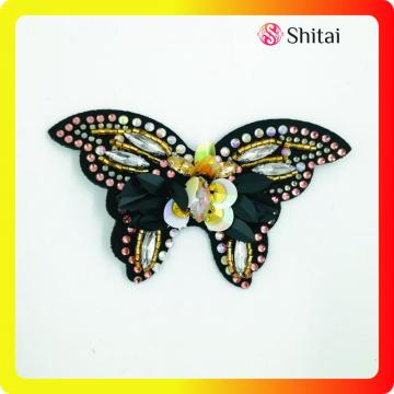 Fancy butterfly embroidery with sequins&strass