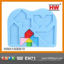 Educational plastic toy puzzle games tangram