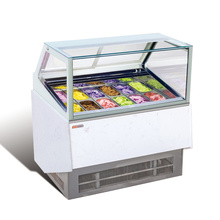 12Pans Italian Gelato Ice Cream Dipping Display Cabinet