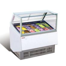 Armário de exposição de mergulho do gelado italiano de 12Pans