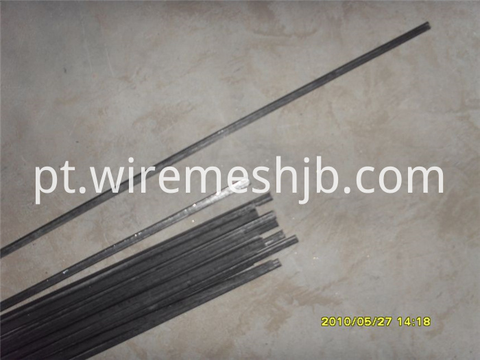 black flat steel wire