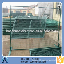 colorized Canada standard galvanized PVC coated welded wire mesh temporary fence
