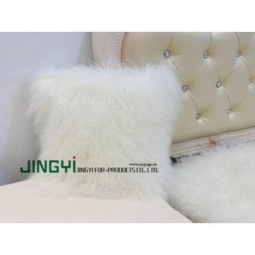 Curly Mongolian Lamb Fur Pillow Case